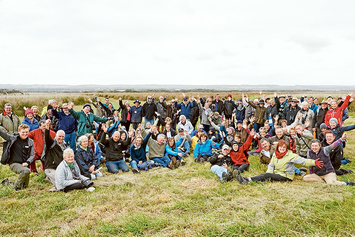 Caring for land: Attendees at the 30th anniversary of Landcare celebration.Pictures: Alison Hoelzer