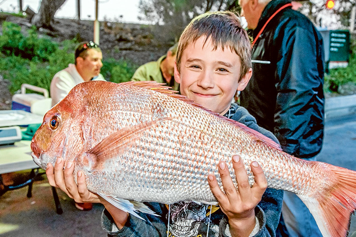 Brodie Knight with his 3.922kg catch. Pictures: Supplied and Gary Sissons