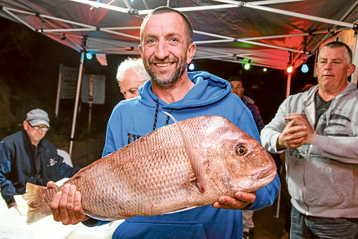 Richard Janson, of Carrum Downs, with his catch on the day. Pictures: Supplied and Gary Sissons