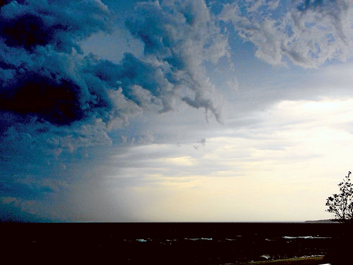 The storm that put Melbourne's health services under unprecedented pressure with throusands of patients calling for help with asthma-related symptons. Picture: Keith Platt