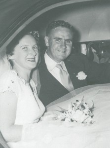 Don and Shirley, married at the Frankston Methodist Church, 6th January 1957.